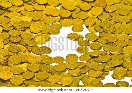 Coins Fall On The Table
