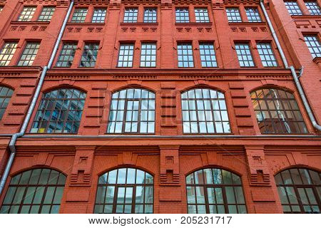 Brick Architecture Of The Golutvin Manufactory In Moscow, Russia