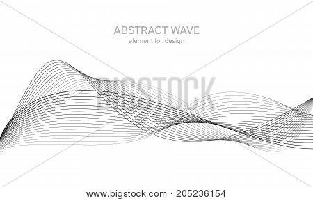 Abstract Wave Element For Design. Digital Frequency Track Equalizer. Stylized Line Art Background. V