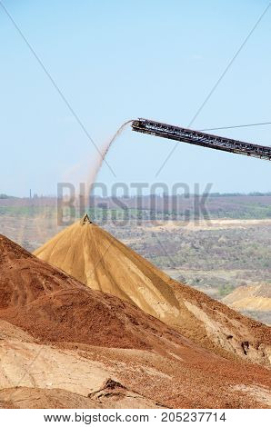 part of the quarry for manganese ore mining