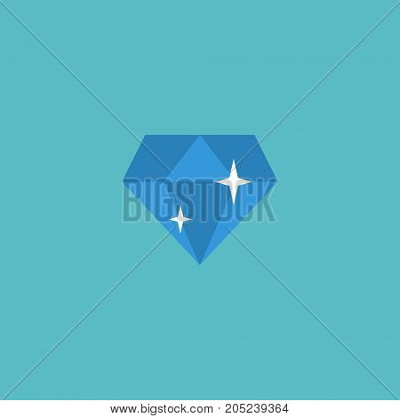 Flat Icon Diamond Element. Vector Illustration Of Flat Icon Brilliant Isolated On Clean Background