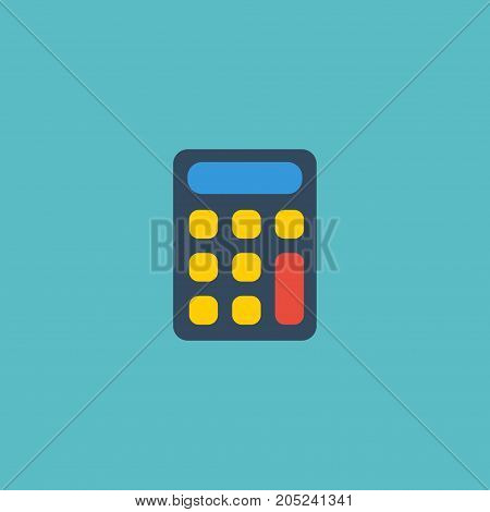 Flat Icon Calculator Element. Vector Illustration Of Flat Icon Calculate Isolated On Clean Background