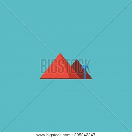 Flat Icon Giza Element. Vector Illustration Of Flat Icon Great Pyramid Isolated On Clean Background