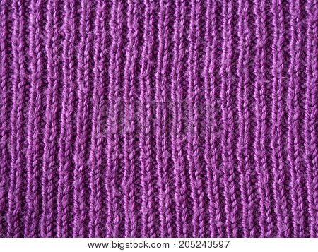 Bright Pink Lilac Wool Hand Knitted Texture Abstract Background
