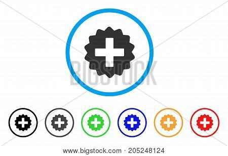 Create rounded icon. Style is a flat create grey symbol inside light blue circle with black, gray, green, blue, red, orange color versions. Vector designed for web and software interfaces.