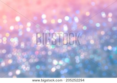 Abstract blur the sweet colorful bokeh for background