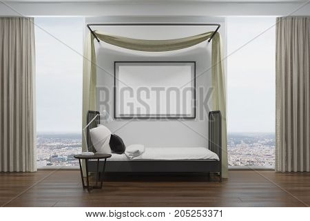 White Bedroom With A Poster, Side