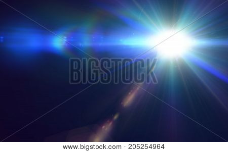 Abstract beautiful galaxy backgrounds and lens flare lights.Colorful digital lens flare