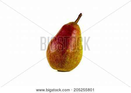 Pears isolated on white background. Copy space for text.