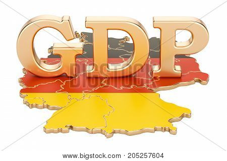 gross domestic product GDP of Germany concept 3D rendering isolated on white background