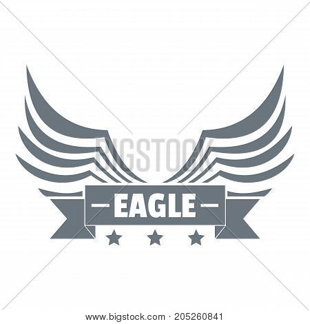 Eagle wing logo. Simple illustration of eagle wing vector logo for web