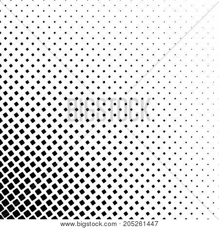 Monochromatic square corner pattern - geometric abstract vector background graphic from angular rounded squares