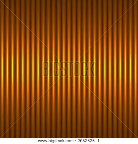 Gold abstract background with strips. The idea for the business card