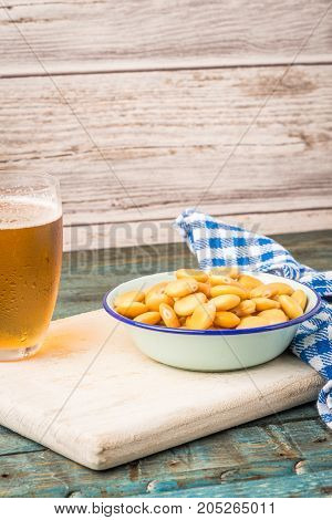 Tasty Lupins And Glass Of Beer