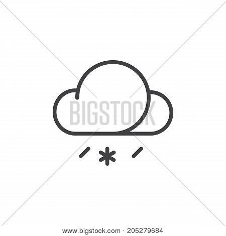 Sleet line icon, outline vector sign, linear style pictogram isolated on white. Symbol, logo illustration. Editable stroke