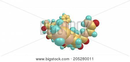 Desmopressin Molecular Structure Isolated On White