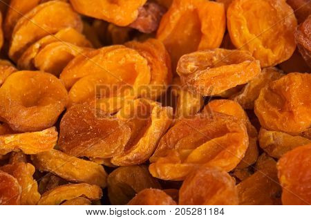 Dried Apricots In The Background