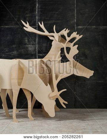 New Year Decoration Made Of Plywood