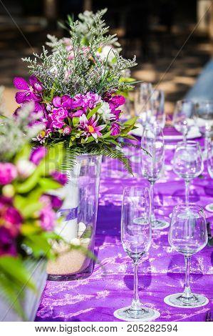 Wedding Table Setup