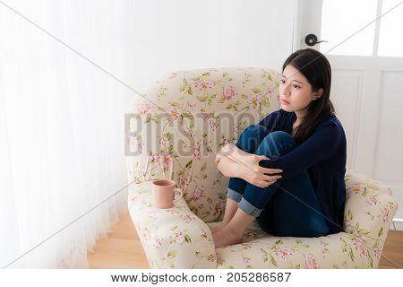 Young Girl Having Bad Problem Feeling Sadness
