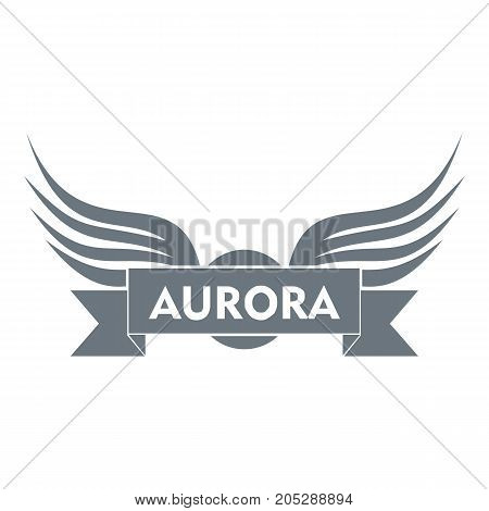 Aurora wing logo. Simple illustration of aurora wing vector logo for web
