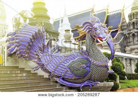 The beautiful temple at Wat Banden chiangmai Thailand