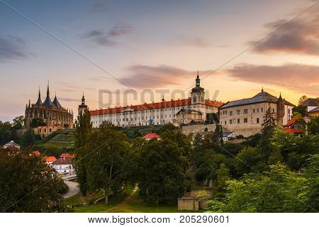 Jesuit college and st Barbara's church in Kutna Hora.