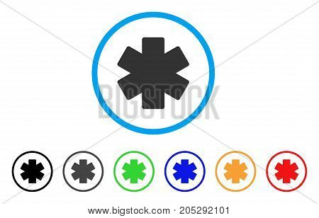 Multiply Math Operation rounded icon. Style is a flat multiply math operation grey symbol inside light blue circle with black, gray, green, blue, red, orange versions.