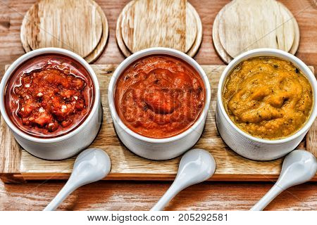 Different Sauces Of Barbecue, Adjika