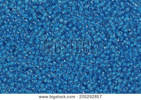 Light blue beads of high quality. Hi res photo.