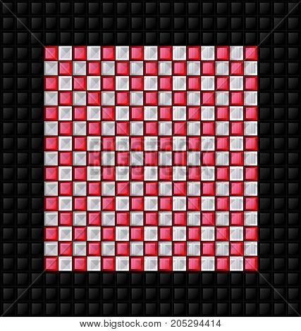 abstract colored background image consisting of lines with red, white and black glossy blocks