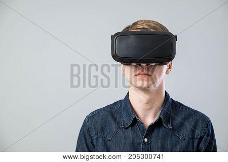 Man In Virtual Reality