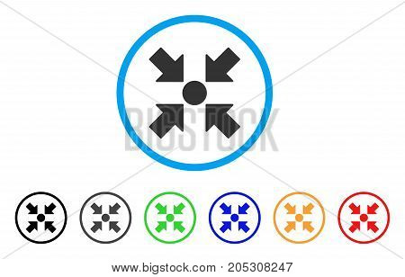 Meeting Point rounded icon. Style is a flat meeting point gray symbol inside light blue circle with black, gray, green, blue, red, orange color versions.