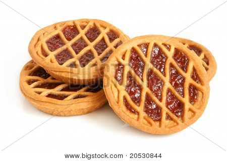 Short Pies With Cherry Jam