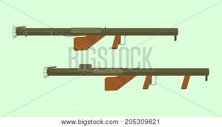 america usa united states ww2 anti tank weapon m1a1 and m1 type vector poster
