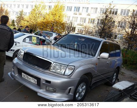 Russia, Cheboksary, June 6, 2012: Show Of Auto Sound, Tuned Cars And Drag Racing Machines