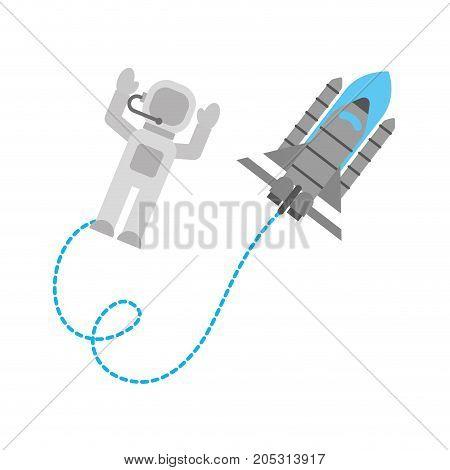 space astronaut with spaceship travel adventure exploration
