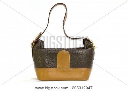 Old Leather Brown Lady's Handbag