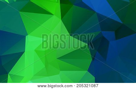 Abstract Green Which Consist Of Triangles. Geometric Background In Origami Style With Gradient. Tria