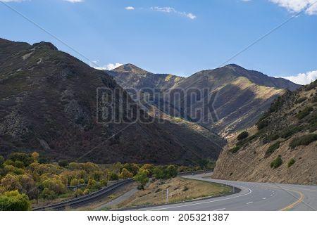 The sun light and roads of Utah