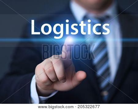 Logistics Management Freight Service Business Internet Technology Concept.