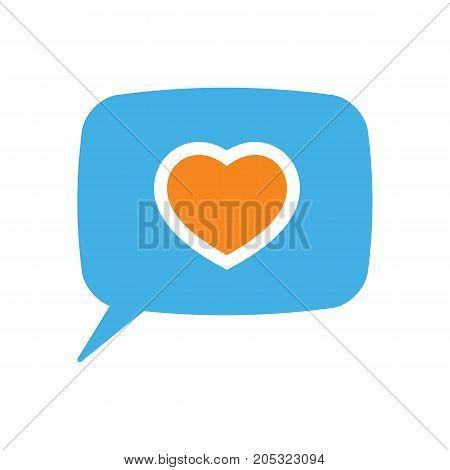 Speech Bubble Icon On White Background