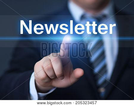 Newsletter Subscribe Advertising Marketing Membership Business Internet Technology Concept.