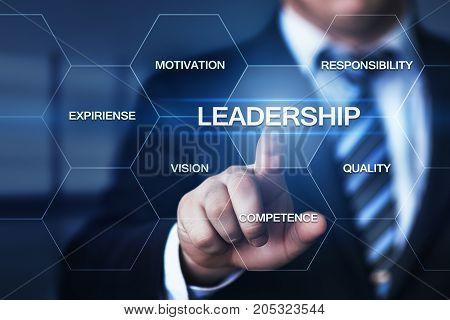 Leadership Business Management Teamwork Motivation Skills concept.