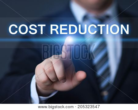 Cost Reduction Budget Finance Business Internet Technology Concept.