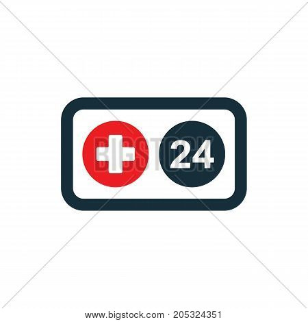 Medical Sign Nonstop Phone Icon On White Background