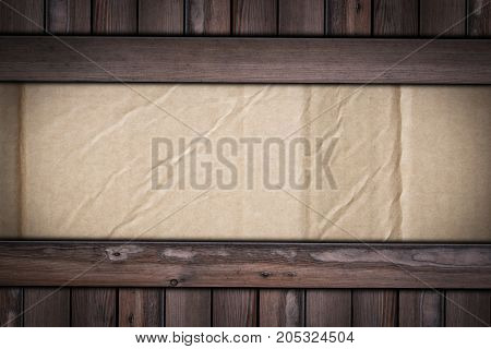 Old Cardboard Texture On Wooden Background For Graphic Designers
