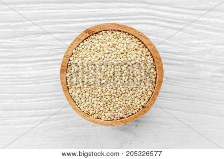 Quinoa Seeds On Wooden Background