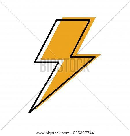 lightning bolt weather storm energy vector illustration