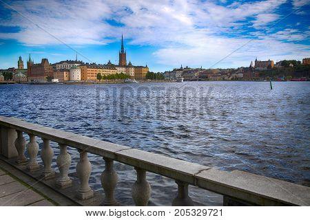 View of Gamla Stan in Stockholm Sweden